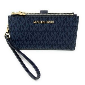 Michael Kors MK Jet Set Travel Double Zip Wallet